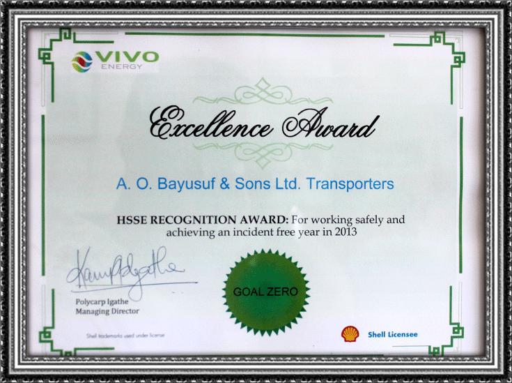 Vivo Excellence Award